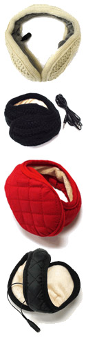 Muffones come in two styles - knit and quilted, both styles of ear muff headphones are stylin'.