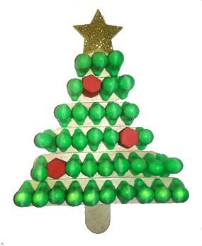 easy earplug christmas tree