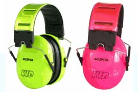 Silenta Kid Folding Ear Muffs - Brilliant green and bold pink are definitely spring colors.
