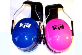 Peltor Kid Quality Ear Muffs - Pink and blue are sure to please girls and boys this spring.