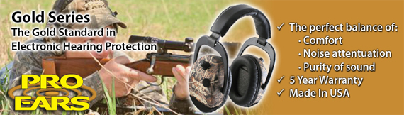 Pro-Ears Gold Series - The Gold Standard in Electronic Hunter's Hearing Protection