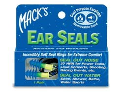 Macks Ear Seals are a good example of Pre-Molded Swimming Ear Plugs