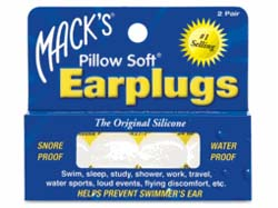 Macks Pillow Soft White Ear Plugs are a very popular Moldable Silicone Ear Plug